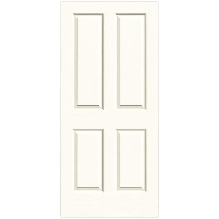 JELD-WEN Moonglow Solid Core 4 Panel Square Slab Interior Door (Common: 36-in x 80-in; Actual: 36-in x 80-in)