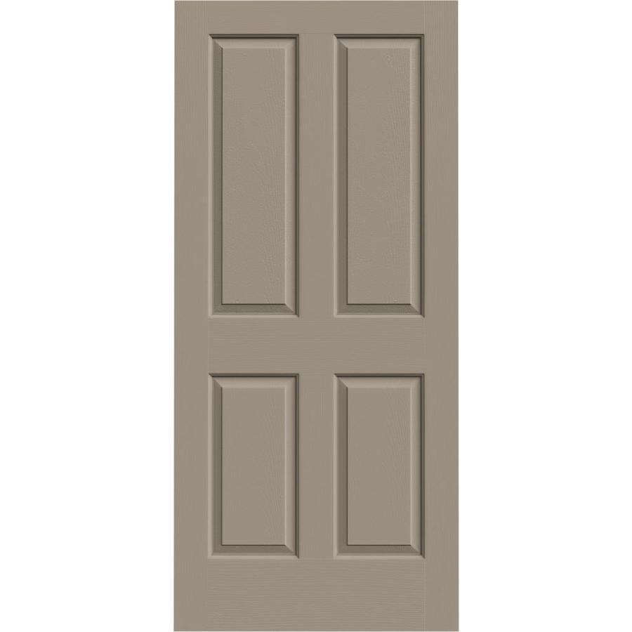 JELD-WEN Sand Piper Solid Core 4 Panel Square Slab Interior Door (Common: 36-in x 80-in; Actual: 36-in x 80-in)