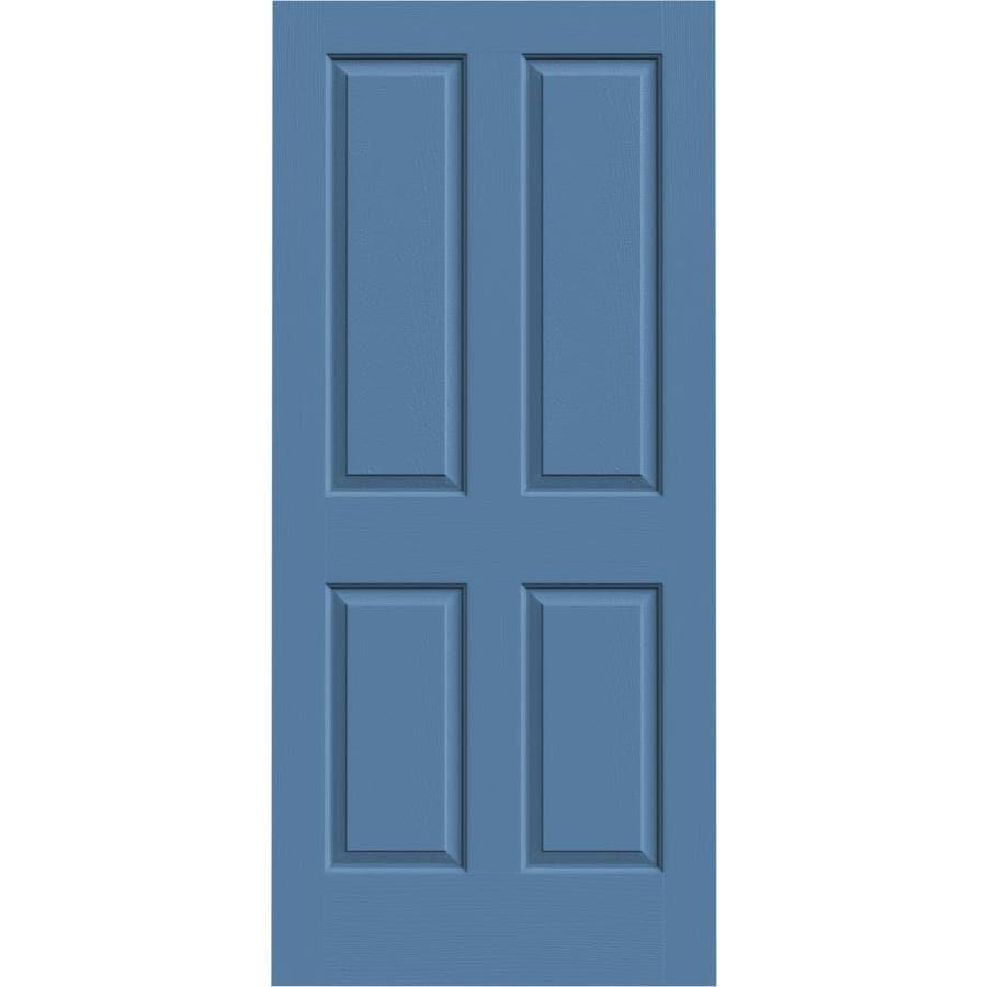 JELD-WEN Blue Heron Solid Core 4 Panel Square Slab Interior Door (Common: 36-in x 80-in; Actual: 36-in x 80-in)