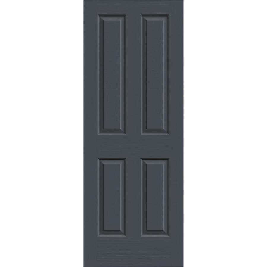 JELD-WEN Slate Solid Core 4 Panel Square Slab Interior Door (Common: 28-in x 80-in; Actual: 28-in x 80-in)