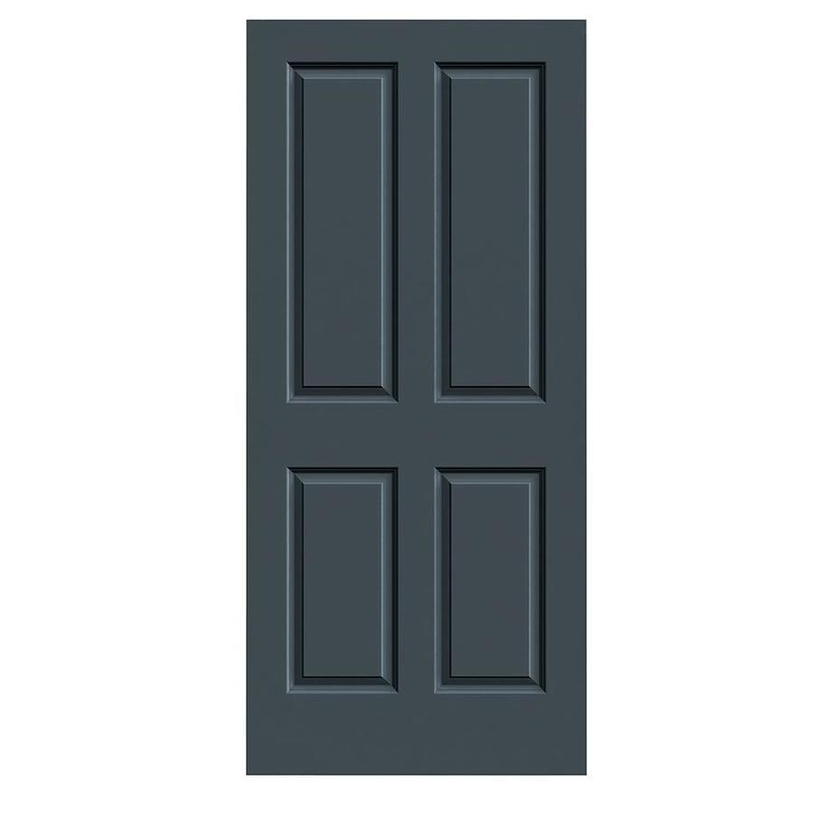 JELD-WEN Slate Solid Core 4 Panel Square Slab Interior Door (Common: 36-in x 80-in; Actual: 36-in x 80-in)