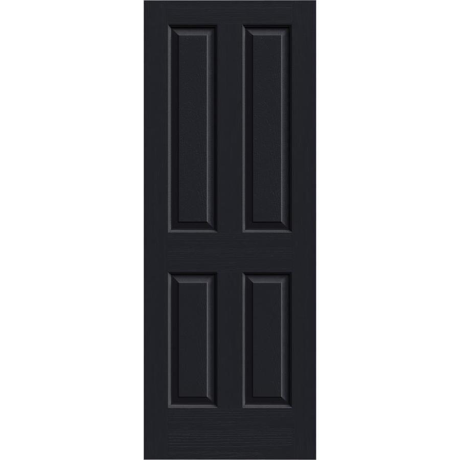 JELD-WEN Midnight Solid Core 4 Panel Square Slab Interior Door (Common: 30-in x 80-in; Actual: 30-in x 80-in)
