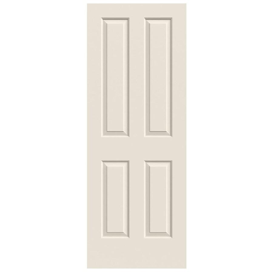 JELD-WEN Solid Core 4 Panel Square Slab Interior Door (Common: 30-in x 80-in; Actual: 30-in x 80-in)