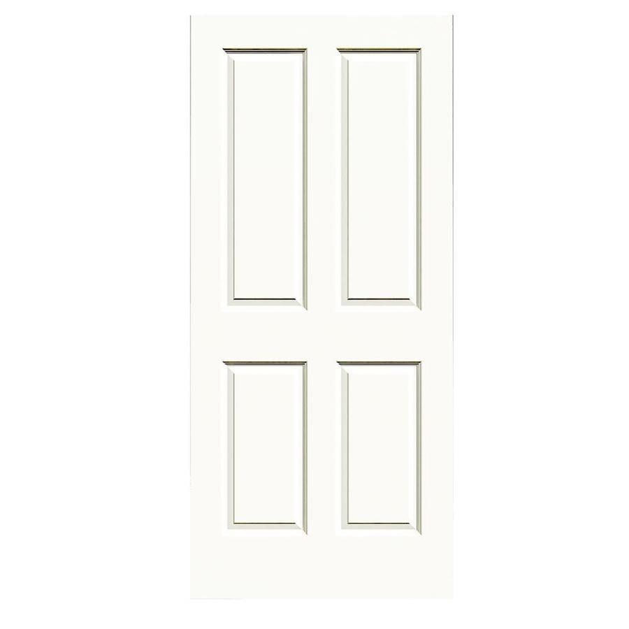 JELD-WEN White Hollow Core 4 Panel Square Slab Interior Door (Common: 36-in x 80-in; Actual: 36-in x 80-in)