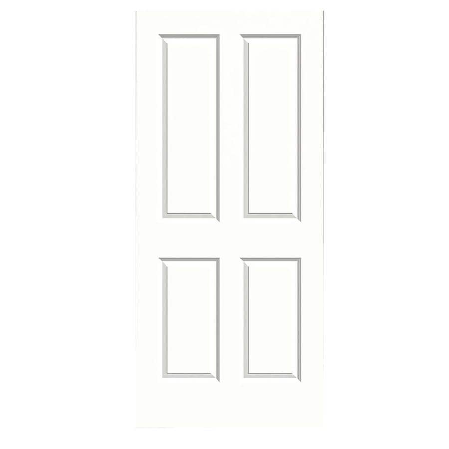 JELD-WEN Snow Storm Hollow Core 4 Panel Square Slab Interior Door (Common: 36-in x 80-in; Actual: 36-in x 80-in)
