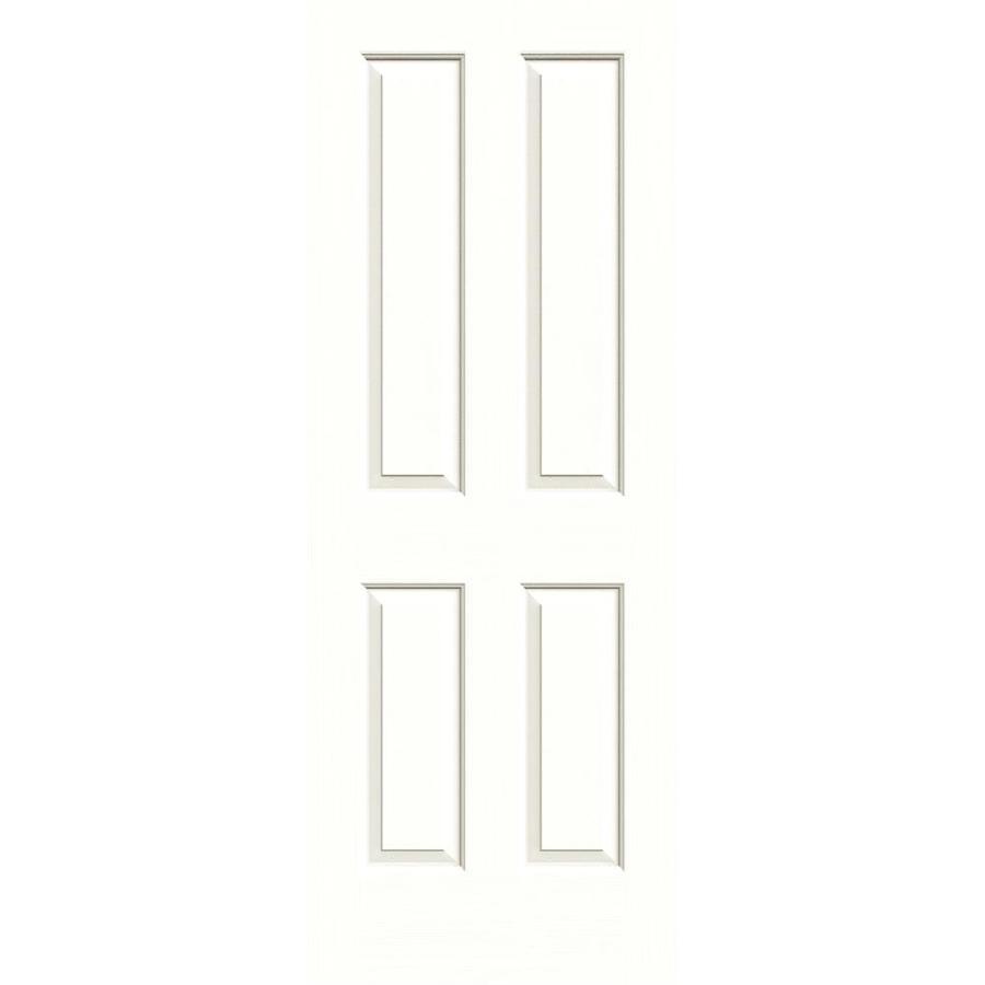 JELD-WEN Moonglow Hollow Core 4 Panel Square Slab Interior Door (Common: 28-in x 80-in; Actual: 28-in x 80-in)