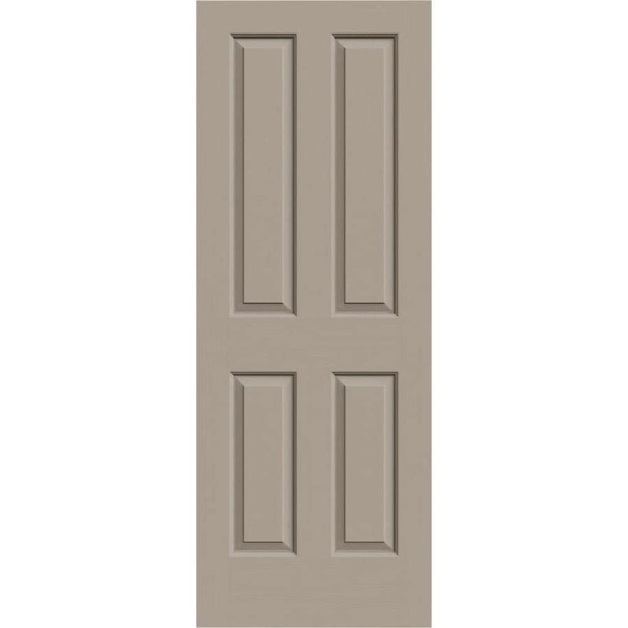 JELD-WEN Sand Piper Hollow Core 4 Panel Square Slab Interior Door (Common: 30-in x 80-in; Actual: 30-in x 80-in)