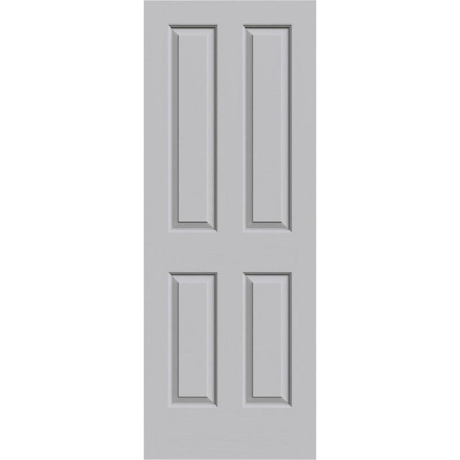 JELD-WEN Driftwood Hollow Core 4 Panel Square Slab Interior Door (Common: 32-in x 80-in; Actual: 32-in x 80-in)