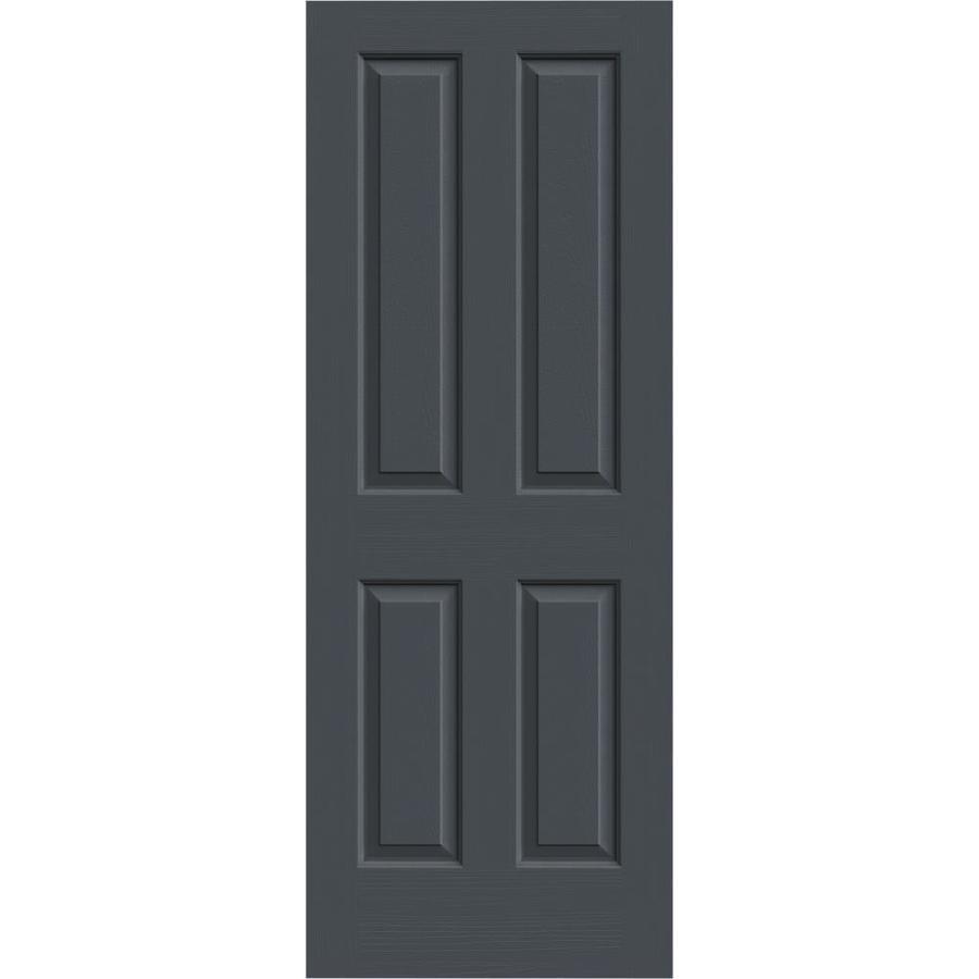 JELD-WEN Slate Hollow Core 4 Panel Square Slab Interior Door (Common: 28-in x 80-in; Actual: 28-in x 80-in)