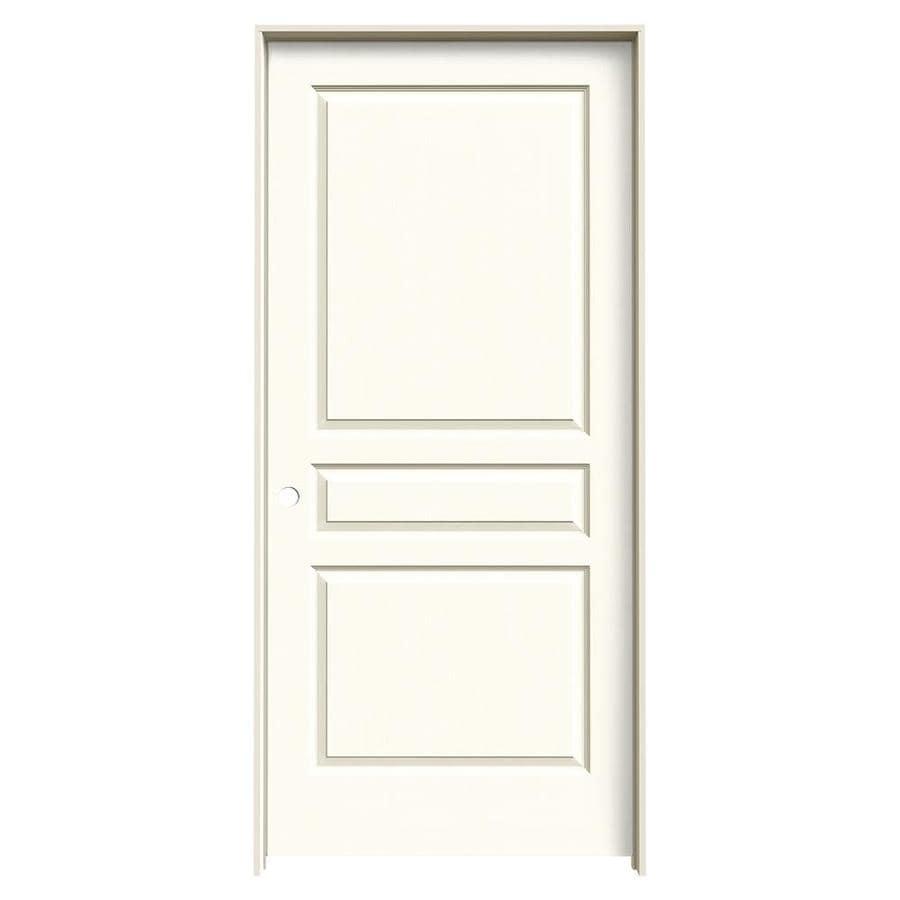 JELD-WEN White Prehung Solid Core 3-Panel Square Interior Door (Common: 36-in x 80-in; Actual: 37.562-in x 81.688-in)