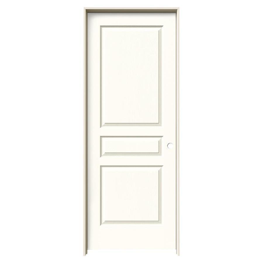 JELD-WEN Moonglow Prehung Solid Core 3-Panel Square Interior Door (Common: 30-in x 80-in; Actual: 31.562-in x 81.688-in)