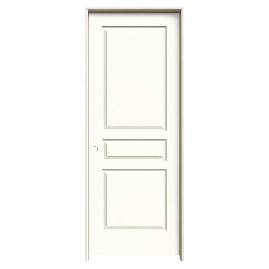 JELD-WEN Moonglow Prehung Solid Core 3-Panel Square Interior Door (Common: 32-in x 80-in; Actual: 33.562-in x 81.688-in)