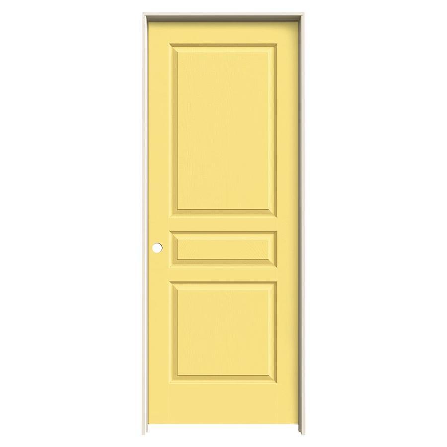 JELD-WEN Marigold Prehung Solid Core 3-Panel Square Interior Door (Common: 32-in x 80-in; Actual: 33.562-in x 81.688-in)