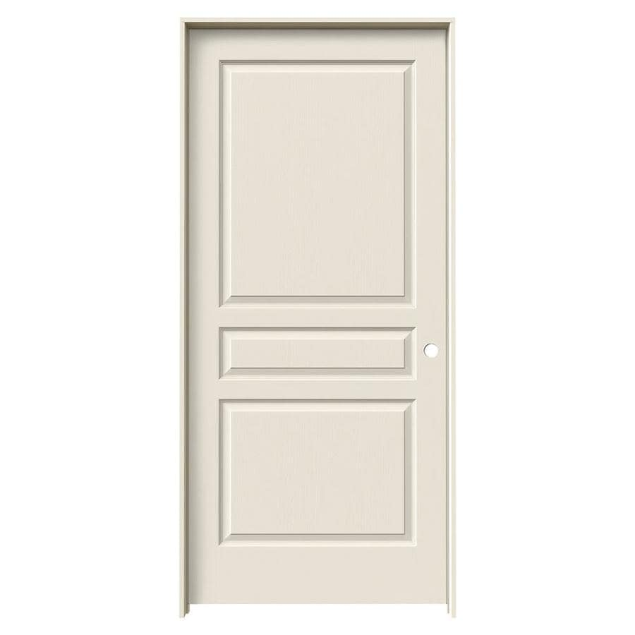JELD-WEN Prehung Solid Core 3-Panel Square Interior Door (Common: 36-in x 80-in; Actual: 37.562-in x 81.688-in)