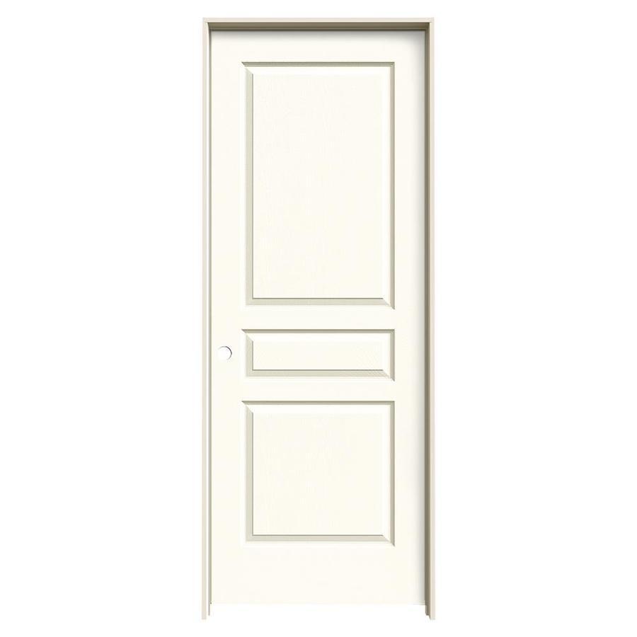 JELD-WEN White Prehung Hollow Core 3-Panel Square Interior Door (Common: 24-in x 80-in; Actual: 25.562-in x 81.688-in)