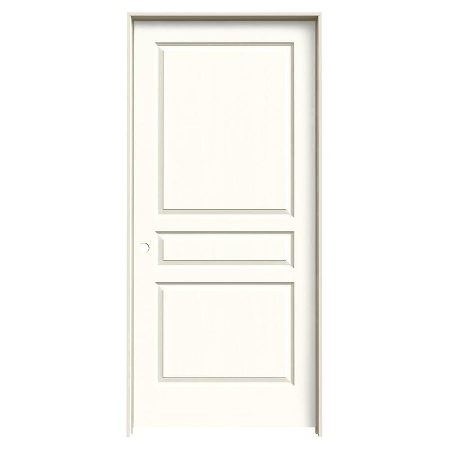 JELD-WEN Moonglow Prehung Hollow Core 3-Panel Square Interior Door (Common: 36-in x 80-in; Actual: 37.562-in x 81.688-in)