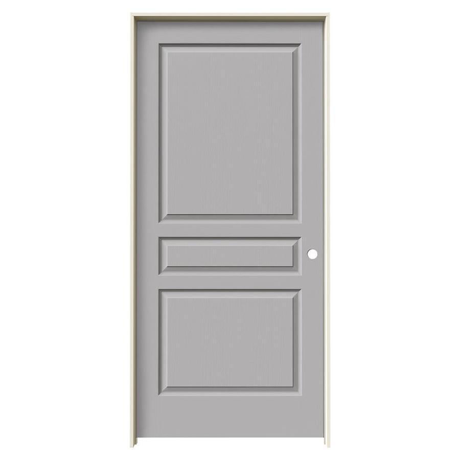 JELD-WEN Driftwood Prehung Hollow Core 3-Panel Square Interior Door (Common: 36-in x 80-in; Actual: 37.562-in x 81.688-in)