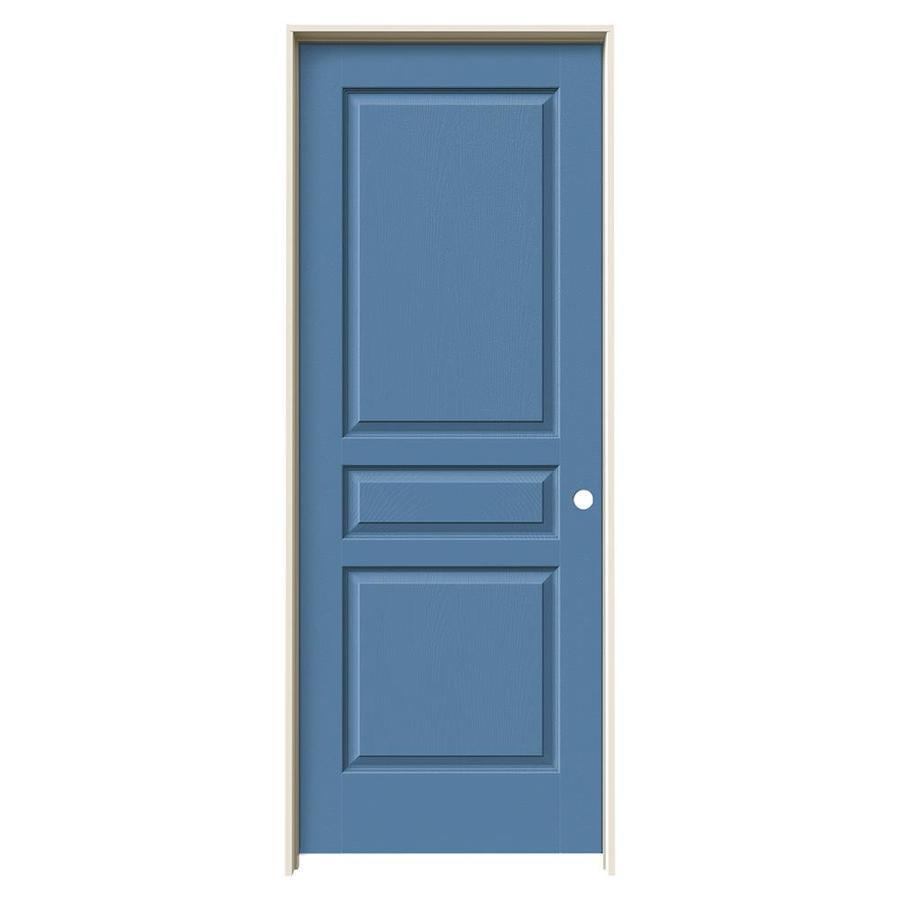 JELD-WEN Blue Heron Prehung Hollow Core 3-Panel Square Interior Door (Common: 30-in x 80-in; Actual: 31.562-in x 81.688-in)