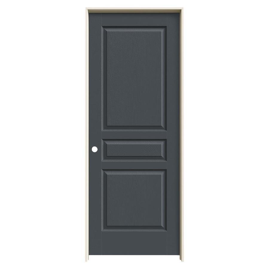 JELD-WEN Slate Prehung Hollow Core 3-Panel Square Interior Door (Common: 28-in x 80-in; Actual: 29.562-in x 81.688-in)