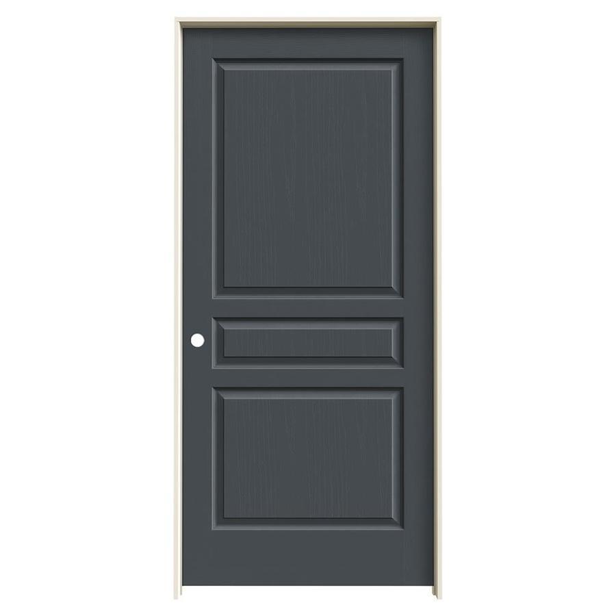 JELD-WEN Slate Prehung Hollow Core 3-Panel Square Interior Door (Common: 36-in x 80-in; Actual: 37.562-in x 81.688-in)