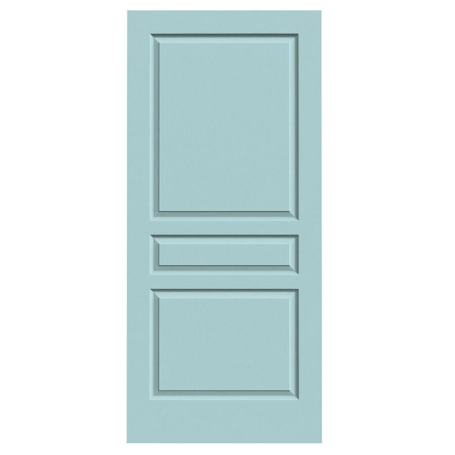 JELD-WEN Sea Mist Hollow Core 3-Panel Square Slab Interior Door (Common: 36-in x 80-in; Actual: 36-in x 80-in)
