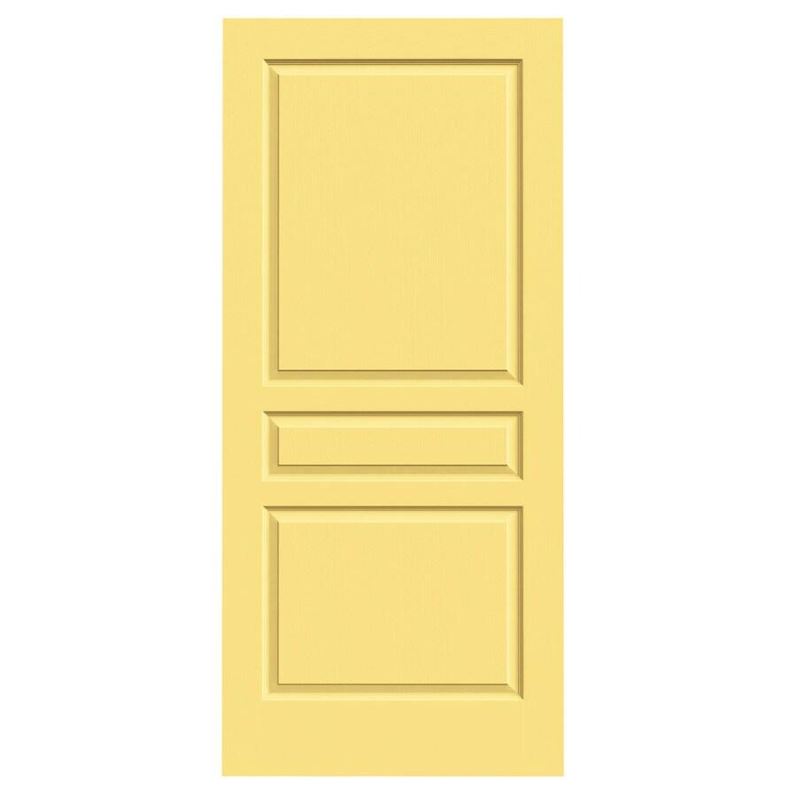 JELD-WEN Marigold Hollow Core 3-Panel Square Slab Interior Door (Common: 36-in x 80-in; Actual: 36-in x 80-in)