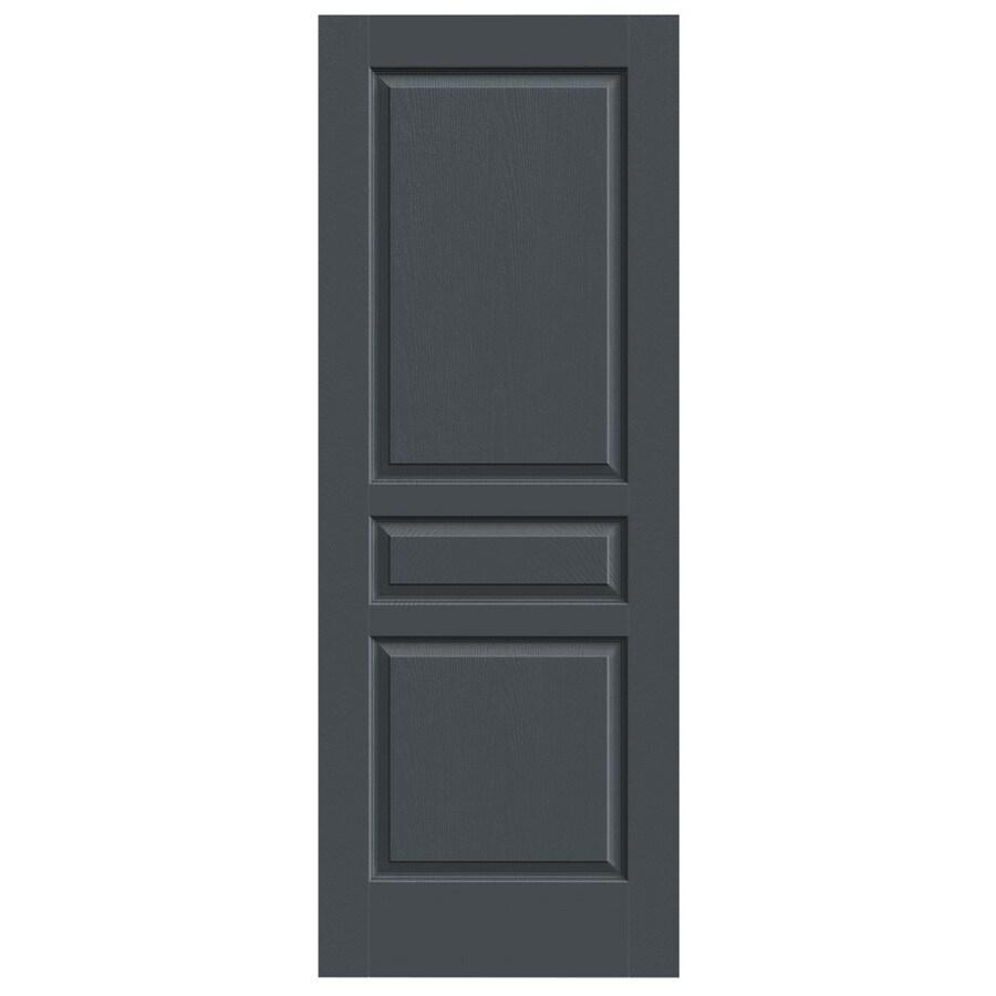JELD-WEN Slate Hollow Core 3-Panel Square Slab Interior Door (Common: 32-in x 80-in; Actual: 32-in x 80-in)