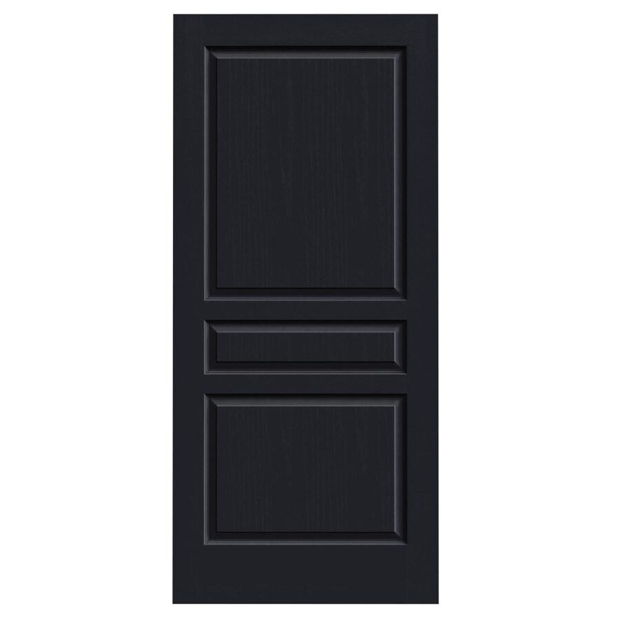 JELD-WEN Midnight Hollow Core 3-Panel Square Slab Interior Door (Common: 36-in x 80-in; Actual: 36-in x 80-in)