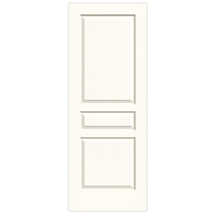 JELD-WEN White Solid Core 3-Panel Square Slab Interior Door (Common: 32-in x 80-in; Actual: 32-in x 80-in)