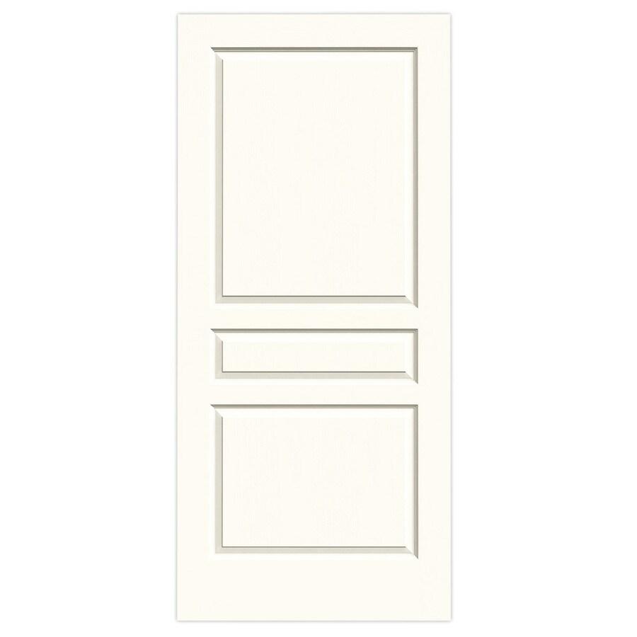 JELD-WEN White Solid Core 3-Panel Square Slab Interior Door (Common: 36-in x 80-in; Actual: 36-in x 80-in)