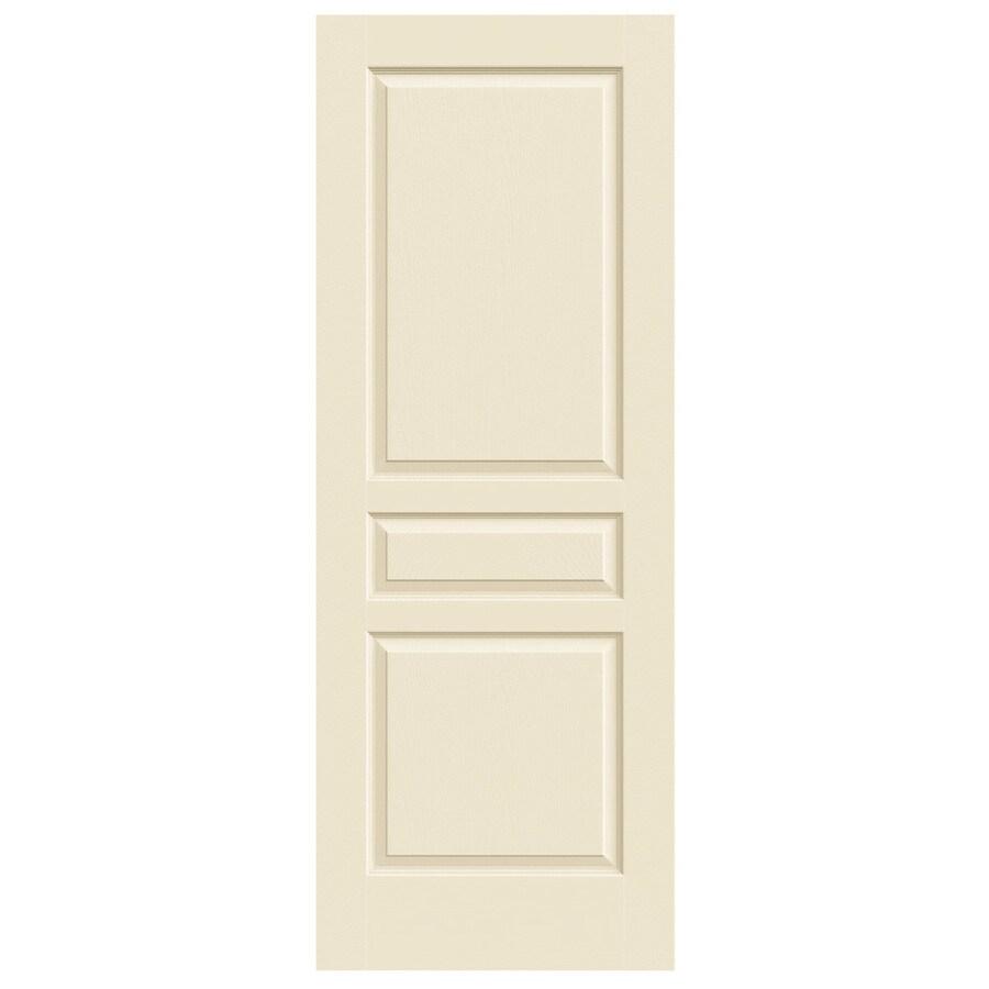 JELD-WEN Cream-N-Sugar Solid Core 3-Panel Square Slab Interior Door (Common: 32-in x 80-in; Actual: 32-in x 80-in)