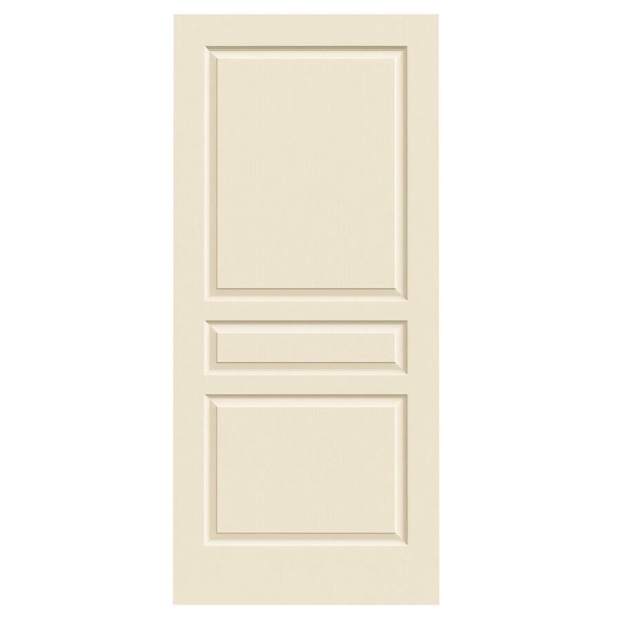 JELD-WEN Cream-N-Sugar Solid Core 3-Panel Square Slab Interior Door (Common: 36-in x 80-in; Actual: 36-in x 80-in)