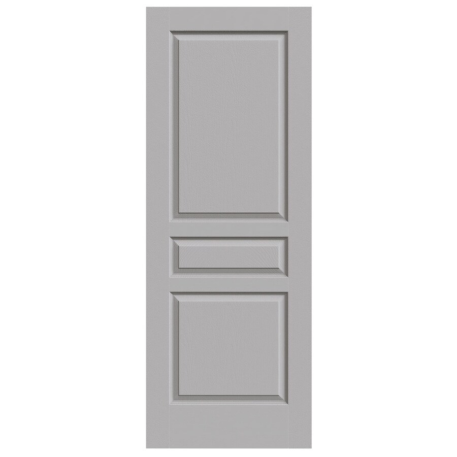 JELD-WEN Driftwood Solid Core 3-Panel Square Slab Interior Door (Common: 32-in x 80-in; Actual: 32-in x 80-in)