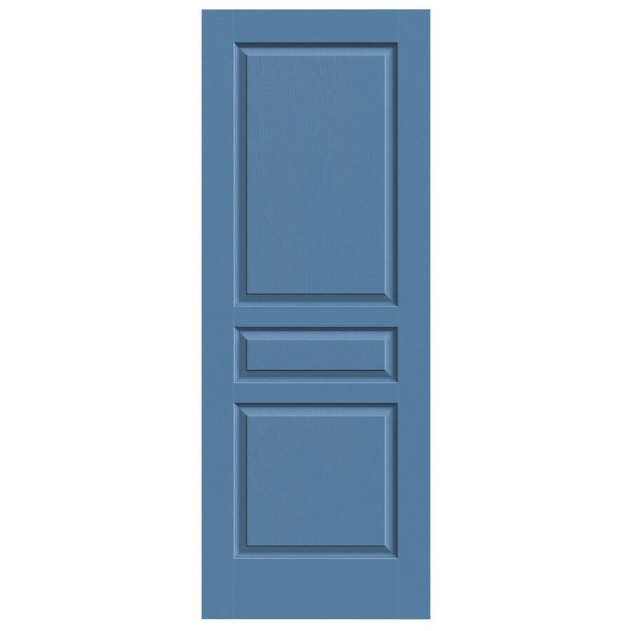 JELD-WEN Blue Heron Solid Core 3-Panel Square Slab Interior Door (Common: 24-in x 80-in; Actual: 24-in x 80-in)