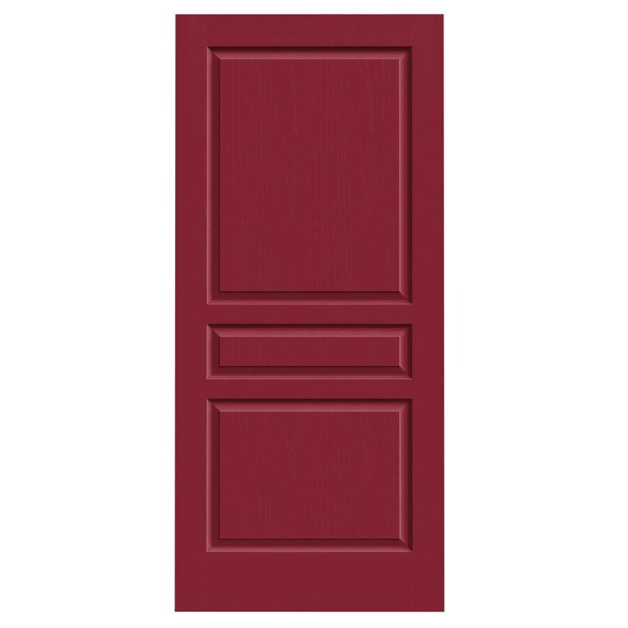 JELD-WEN Barn Red Solid Core 3-Panel Square Slab Interior Door (Common: 36-in x 80-in; Actual: 36-in x 80-in)