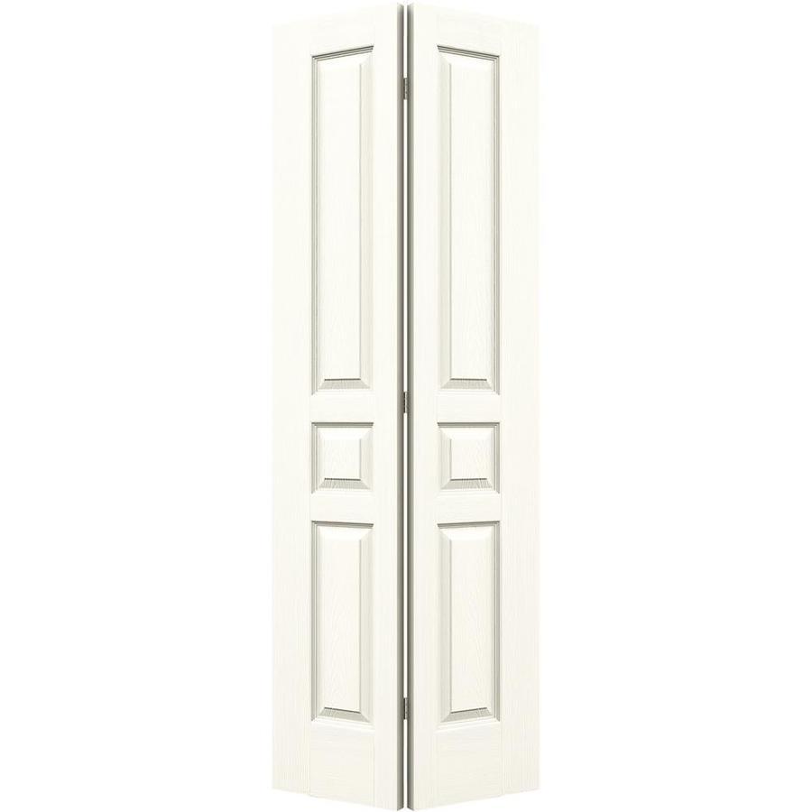 JELD-WEN White Hollow Core 3-Panel Square Bi-Fold Closet Interior Door (Common: 24-in x 80-in; Actual: 23.5-in x 79-in)