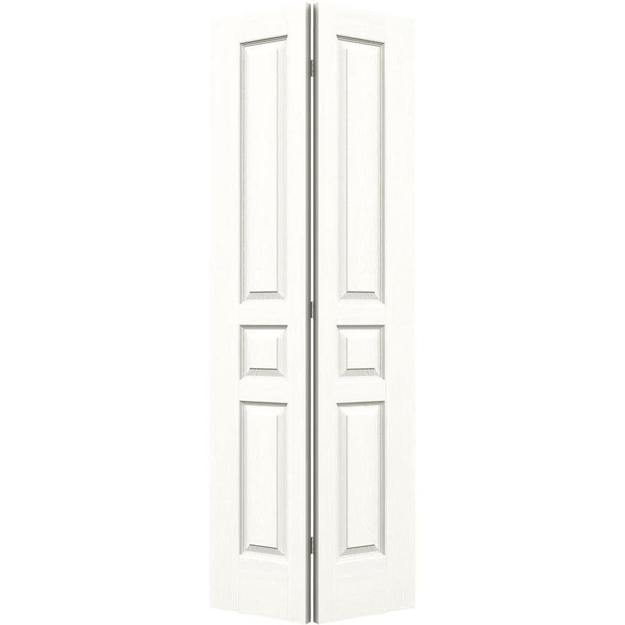 JELD-WEN Snow Storm Hollow Core 3-Panel Square Bi-Fold Closet Interior Door (Common: 24-in x 80-in; Actual: 23.5-in x 79-in)