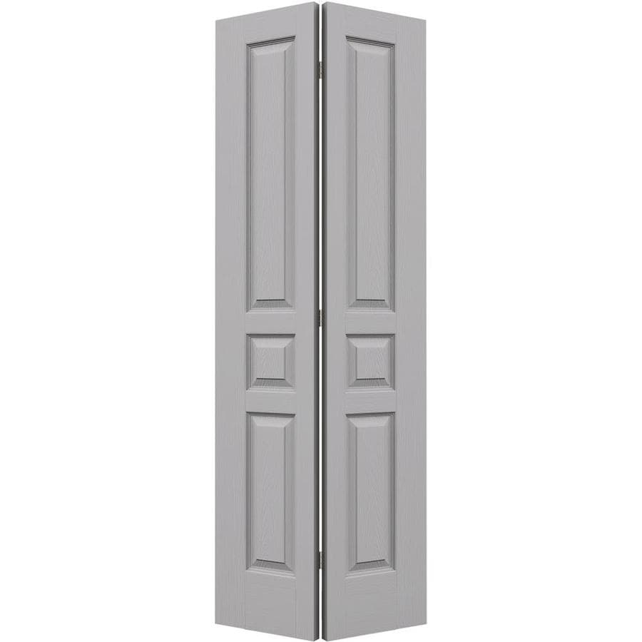 JELD-WEN Driftwood Hollow Core 3-Panel Square Bi-Fold Closet Interior Door (Common: 28-in x 80-in; Actual: 27.5-in x 79-in)