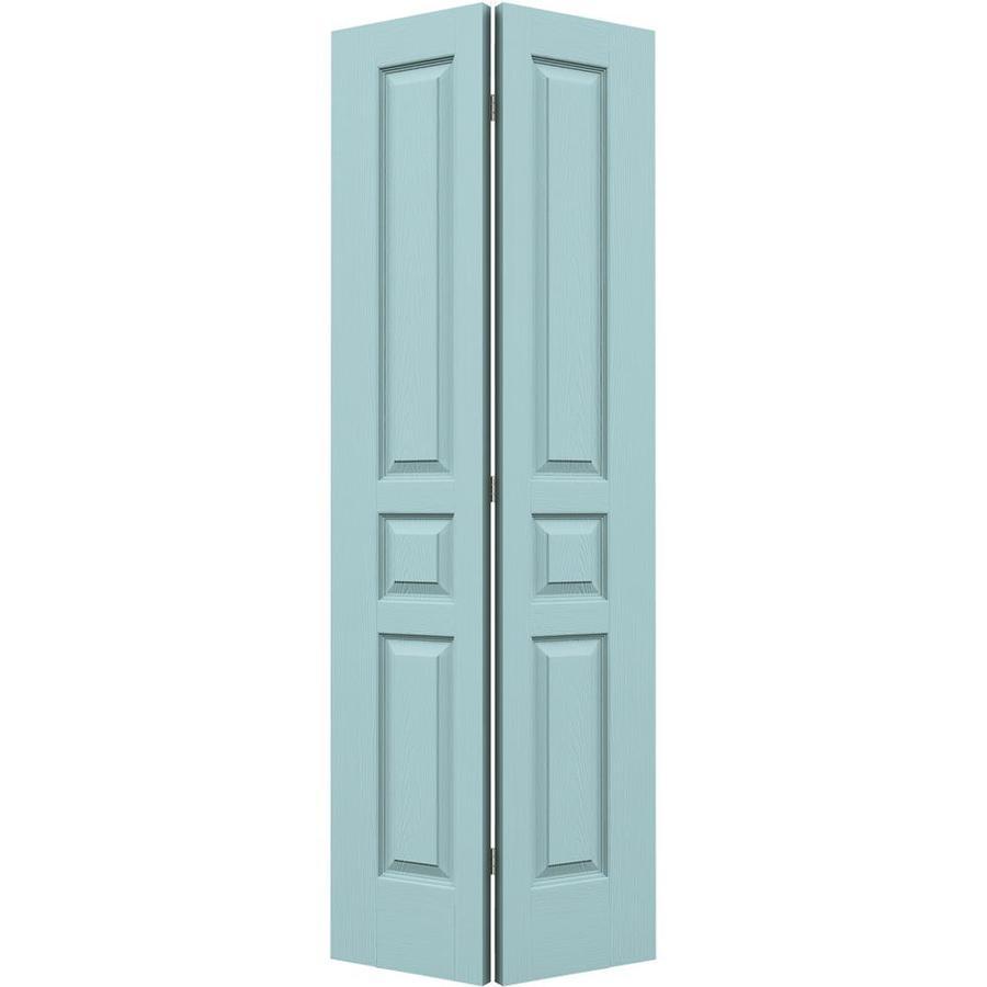 JELD-WEN Sea Mist Hollow Core 3-Panel Square Bi-Fold Closet Interior Door (Common: 24-in x 80-in; Actual: 23.5-in x 79-in)