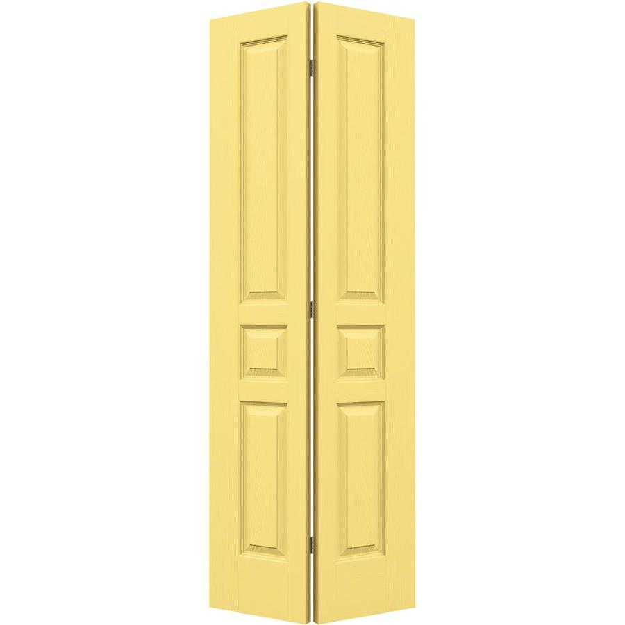 JELD-WEN Marigold Hollow Core 3-Panel Square Bi-Fold Closet Interior Door (Common: 32-in x 80-in; Actual: 31.5-in x 79-in)