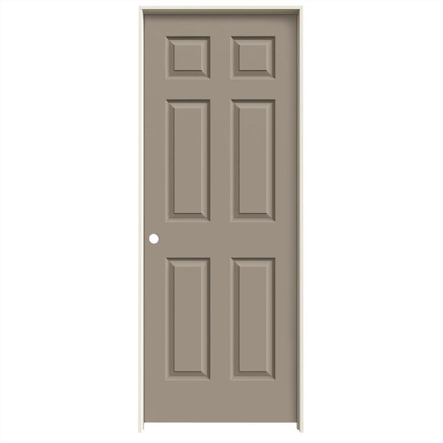 JELD-WEN Sand Piper Prehung Hollow Core 6-Panel Interior Door (Common: 32-in x 80-in; Actual: 33.562-in x 81.688-in)