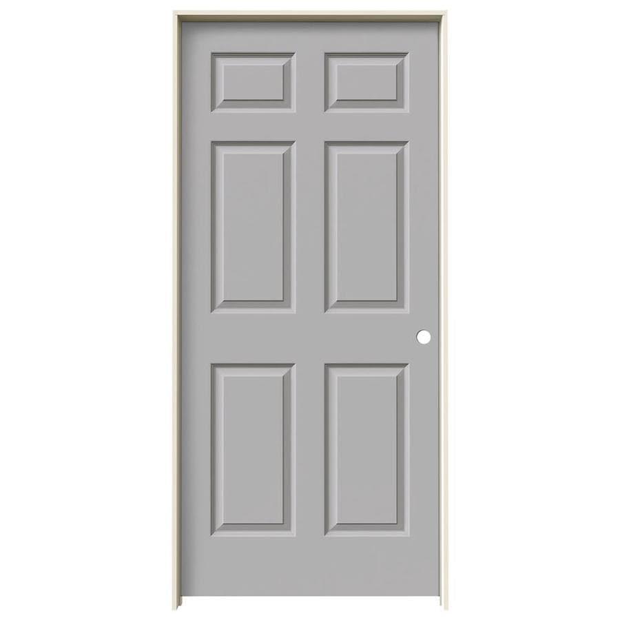 JELD-WEN Driftwood Prehung Hollow Core 6-Panel Interior Door (Common: 36-in x 80-in; Actual: 37.562-in x 81.688-in)