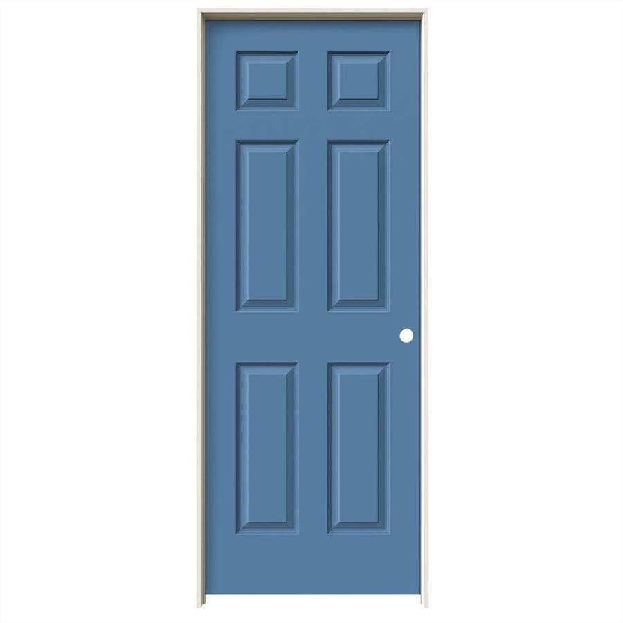 JELD-WEN Blue Heron Prehung Hollow Core 6-Panel Interior Door (Common: 32-in x 80-in; Actual: 33.562-in x 81.688-in)