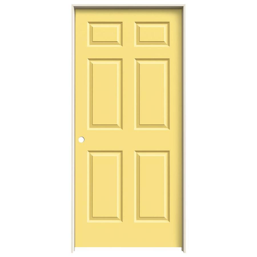 JELD-WEN Marigold Prehung Hollow Core 6-Panel Interior Door (Common: 36-in x 80-in; Actual: 37.562-in x 81.688-in)
