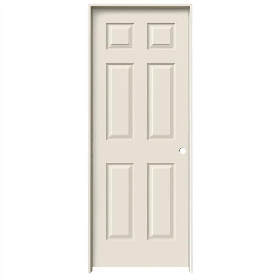 JELD-WEN Prehung Hollow Core 6-Panel Interior Door (Common: 28-in x 80-in; Actual: 29.562-in x 81.688-in)