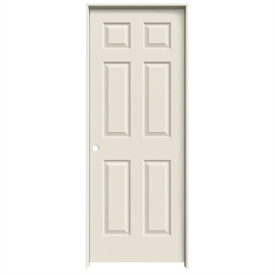 JELD-WEN Prehung Hollow Core 6-Panel Interior Door (Common: 30-in x 80-in; Actual: 31.562-in x 81.688-in)