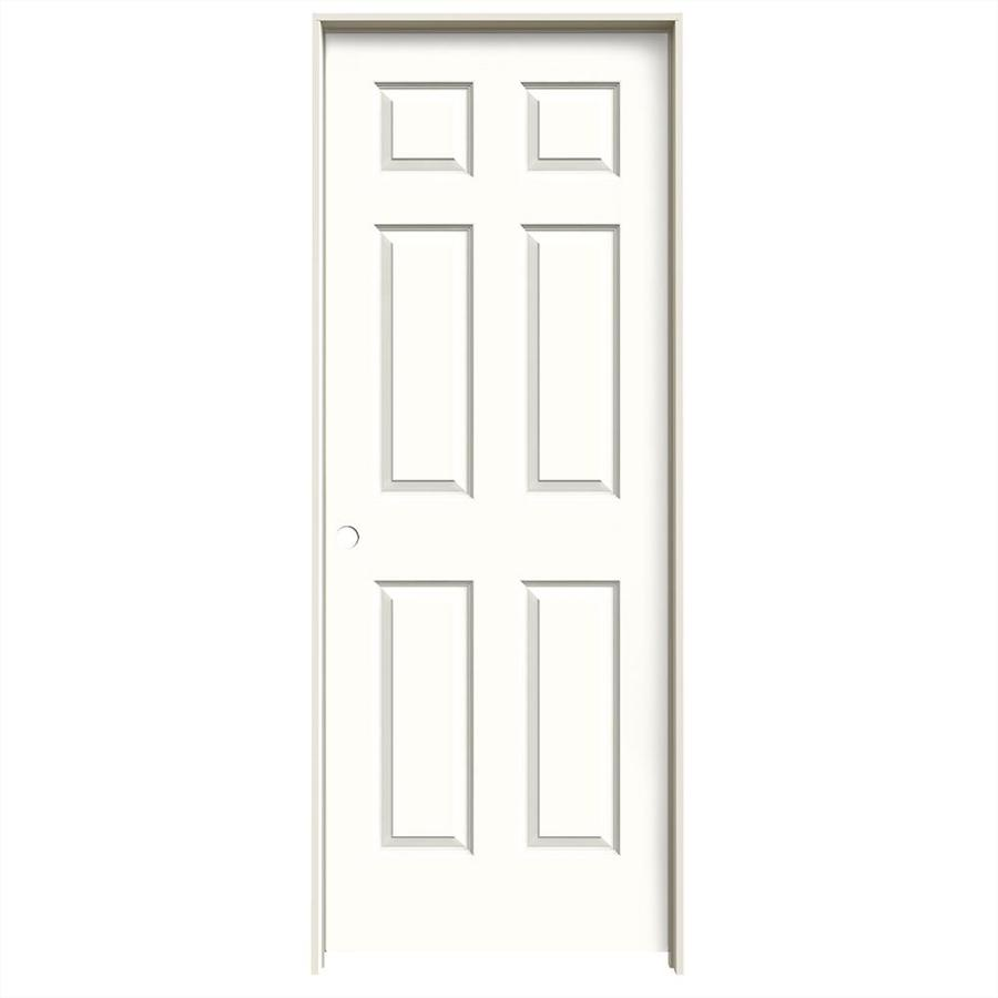 JELD-WEN Snow Storm Prehung Solid Core 6-Panel Interior Door (Common: 24-in x 80-in; Actual: 25.562-in x 81.688-in)