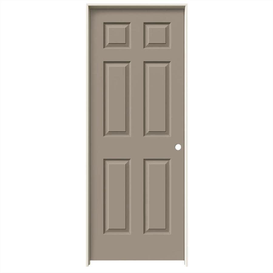 JELD-WEN Sand Piper Prehung Solid Core 6-Panel Interior Door (Common: 28-in x 80-in; Actual: 29.562-in x 81.688-in)