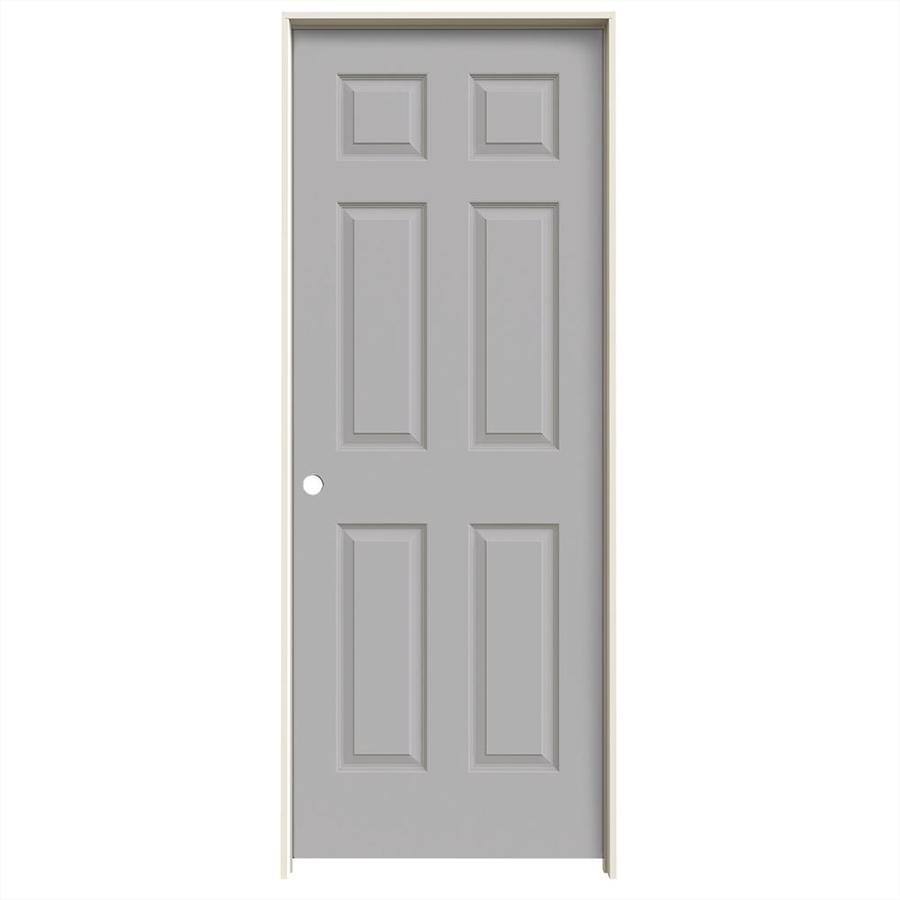 JELD-WEN Driftwood Prehung Solid Core 6-Panel Interior Door (Common: 30-in x 80-in; Actual: 31.562-in x 81.688-in)