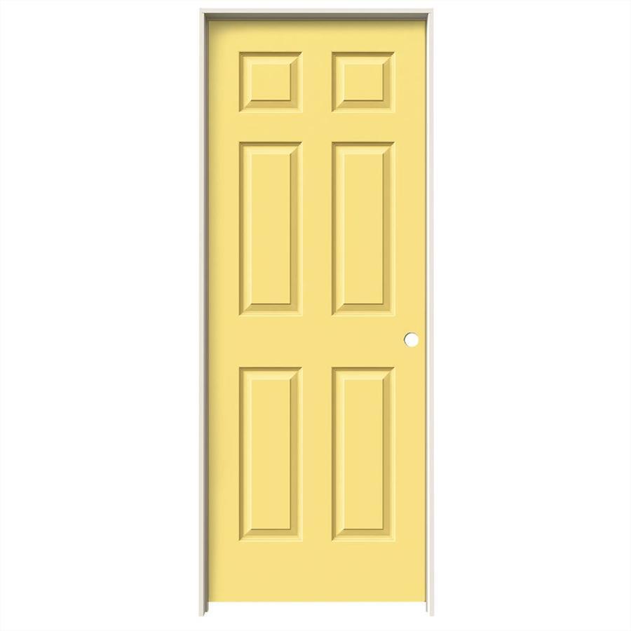 JELD-WEN Marigold Prehung Solid Core 6-Panel Interior Door (Common: 28-in x 80-in; Actual: 29.562-in x 81.688-in)